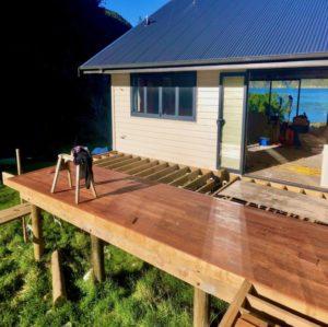 Arapawa Island West Head Bach Decking Addition