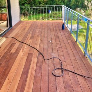 Tory Channel - Side Balcony decking addition