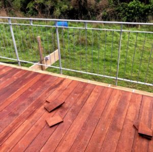 Balcony - decking for Tory Channel bach